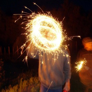 Boys with sparklers