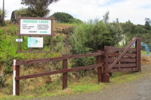 Entrance to Lodge and camping ground